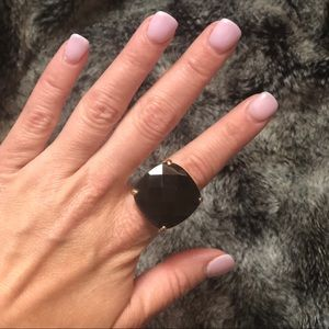 Gold and Black Cocktail Ring